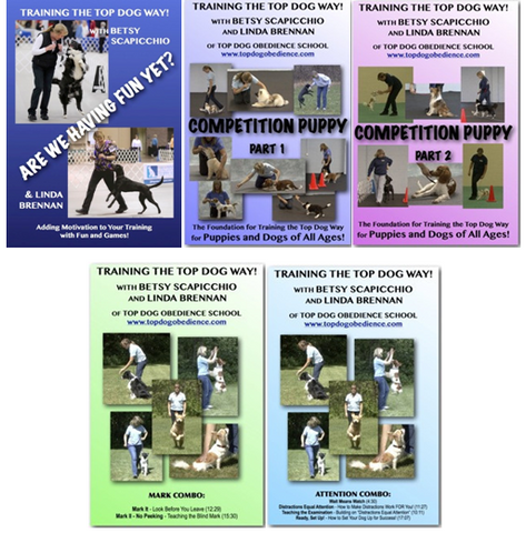 DVD 5 Pack - Top Dog Attention Combo, Mark Combo, Puppy Parts 1 and 2, and Fun Yet