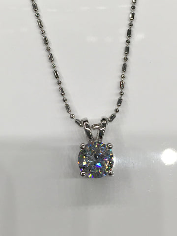 Crystal Solitaire Pendant