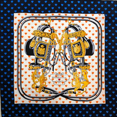 "Hermes ""Brides de Gala"" Blue/Orange Scarf"