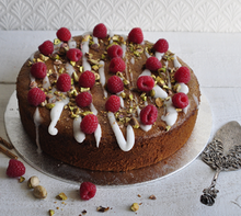 Load image into Gallery viewer, Amazing gluten free raspberry and pistachio cake by Gosh of Hove