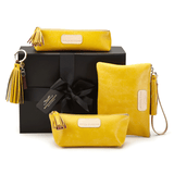 Leather Accessories in Canary Yellow
