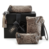 Exotic Purses in Brown Python Skin