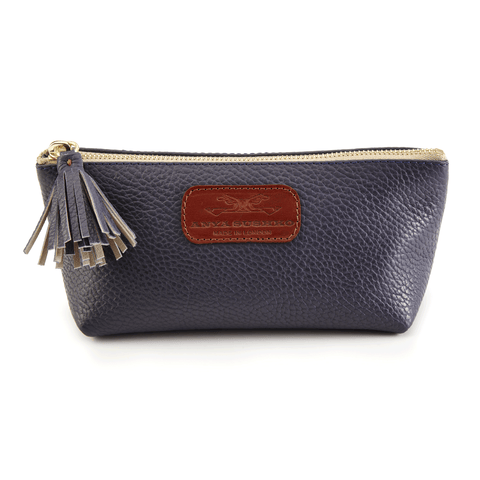 Cosmetic Case in Textured Navy