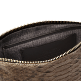 Luxury Wristlet in Diamond Python Skin lining detail