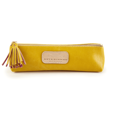 Handmade Pencil Bag in Canary Yellow