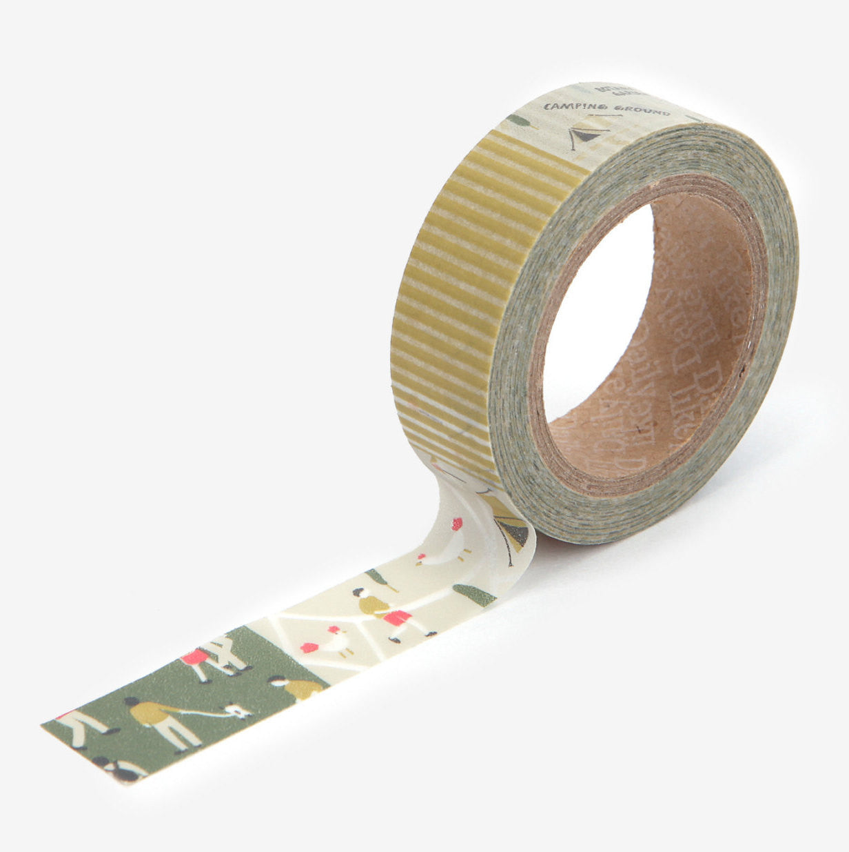 Washi Tape - 15mm - Camping Map