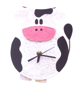 White & Black Cow Wall Clock
