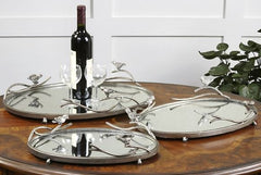 Birds on a Limb Large Mirrored Tray