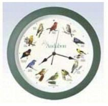 "14"" Bird Singing Wall Clock"
