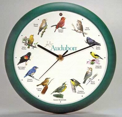 "8"" Bird Singing Wall Clock"