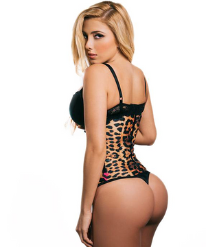 """Animal Print - Pink / Yellow"" - Sport Waist Trainer- 3 Rows - Long"