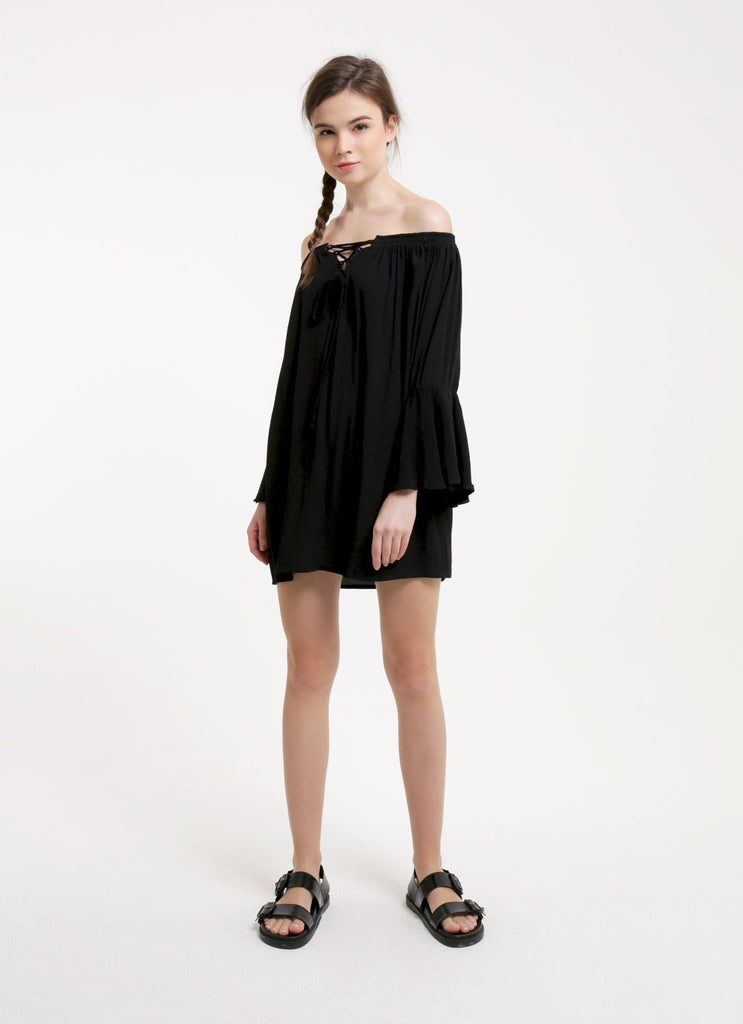 Lara Dress - Plain Black