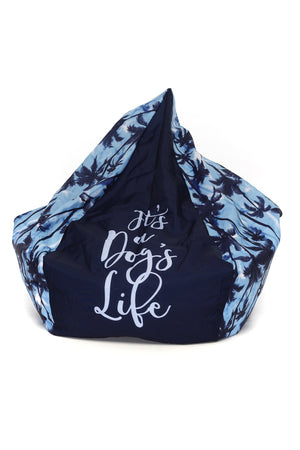 Bean Bag Cover in Tropical Blue