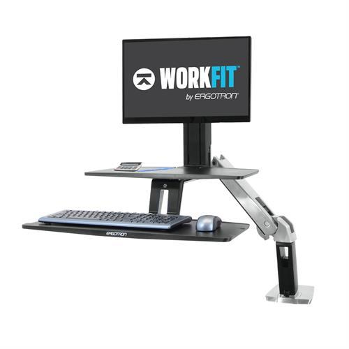 Ergotron WorkFit-A Sit-Stand Desktop Workstations - Suspended Keyboard