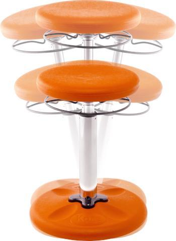 Orange Kore Kids Height-Adjustable Grow-with-Me Wobble Chair Fitneff Canada
