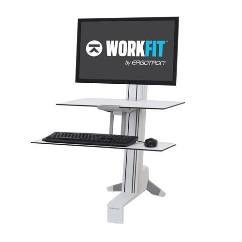 WorkFit-S Sit-Stand Desk, Single HD Workstation with Worksurface. Fitneff Canada