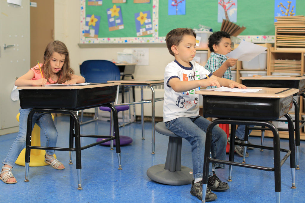 "Children using Kore Toddler Wobble Chair 10"" in Classroom Fitneff Canada"