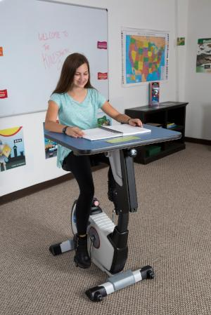 KidsFit Single Pedal Desk from Fitneff Canada - Movement in classroom