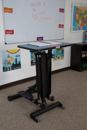 KidsFit Strider Desk from Fitneff Canada in classroom