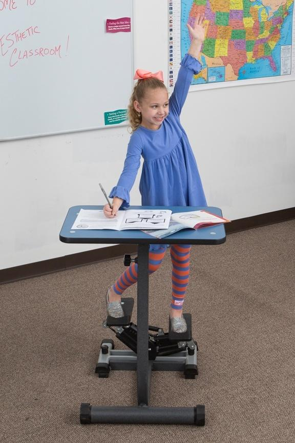KidsFit Stepper Desk from Fitneff Canada - Movement in classroom