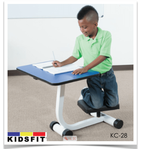 KidsFit Kneel and Spin Desk from Fitneff Canada - Movement in classroom
