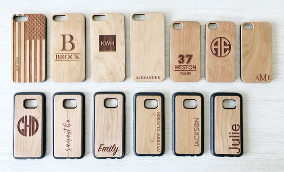 Custom Wood Phone Cases - Premier Home & Gifts