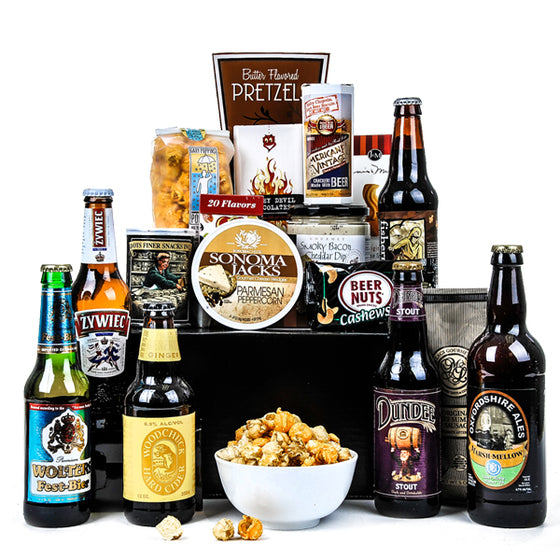 Pub and Grub Ultimate Gift Basket for Him