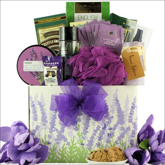 Lavender Spa Pleasures Gift Basket - Premier Home & Gifts