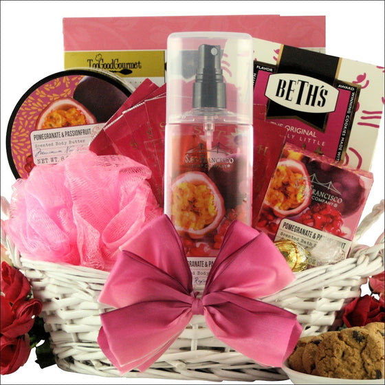 POMEGRANATE & PASSIONFRUIT SPA RETREAT SPA GIFT BASKET