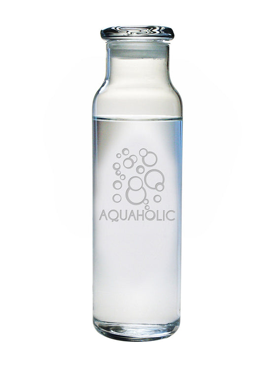 Aquaholic Water Bottle with Lid