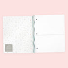 1 Subject Spiral Notebook, College Ruled - Aqua Grid Heart