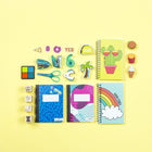 Mini Composition Book  - Multicolor Memphis