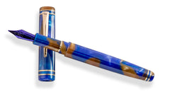 GW Diminuendo Blue Enamel Bronze Fountain Pen