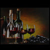 "LED Lighted Flickering Wine, Grapes and Candles Canvas Wall Art 11.75"" x 15.75"""