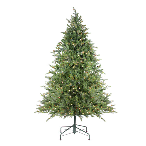 9' Pre-Lit Hunter Fir Full Artificial Christmas Tree - Clear Lights