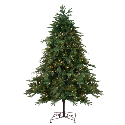 9' Pre-Lit Aurora Spruce Artificial Christmas Tree - Clear Lights