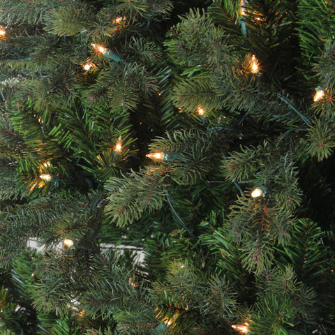 9' Pre-Lit Savannah Spruce Artificial Christmas Tree - Clear Lights
