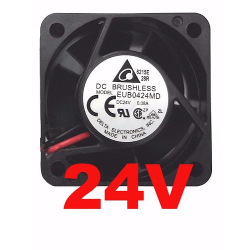 Delta 40x40x20mm 24 Volt Fan Bare Wire EUB0424MD - Coolerguys