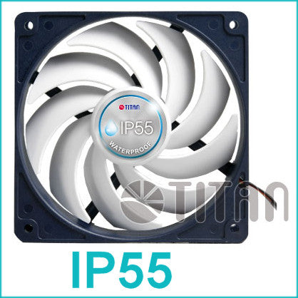 Titan IP55 rated water and dust resistant 140X140X25 Fan #TFD-14025H12B
