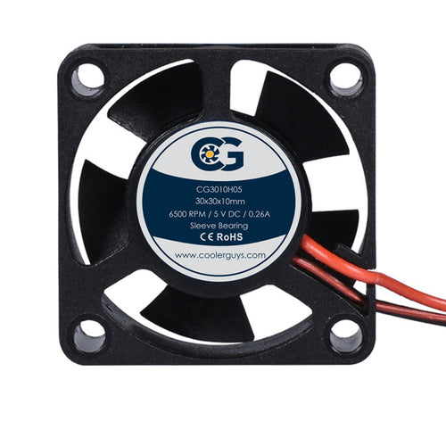 Coolerguys 30mm (30x30x10mm) 5V DC 2pin Fan CG3010H05 - Coolerguys