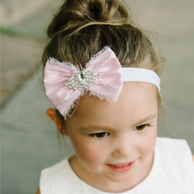 Aaliyah Bow Nylon Headband- 9 Colors