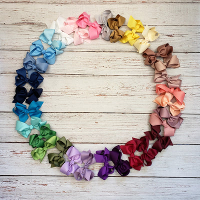 Grosgrain BOWS Hair Clips  31 Colors