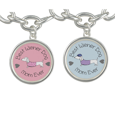 Best Wiener Dog Mom Charm Bracelet, The Smoothe Store