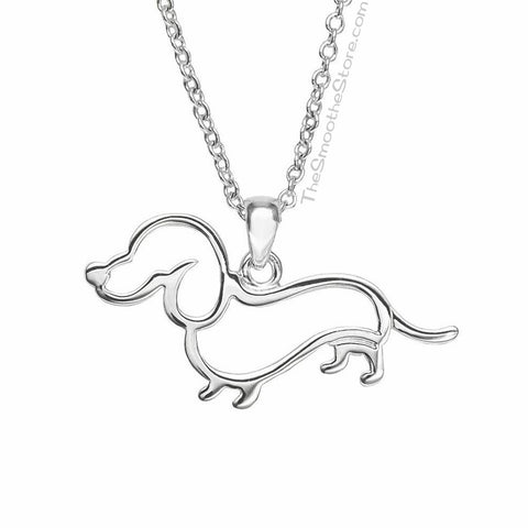 Dachshund Silhouette Necklace