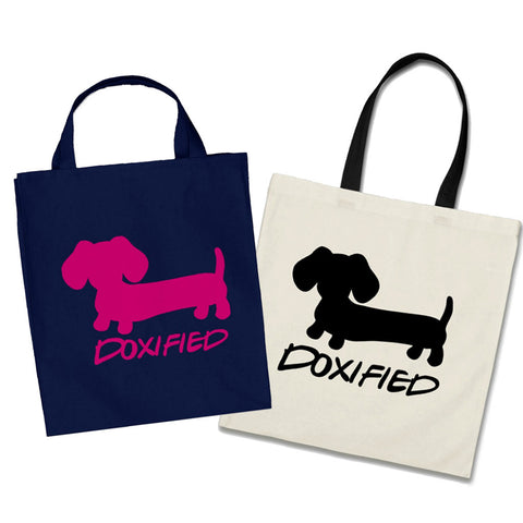 Doxified Wiener Dog Tote Bags