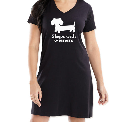 Sleeps With Wieners Dachshund Night Shirt