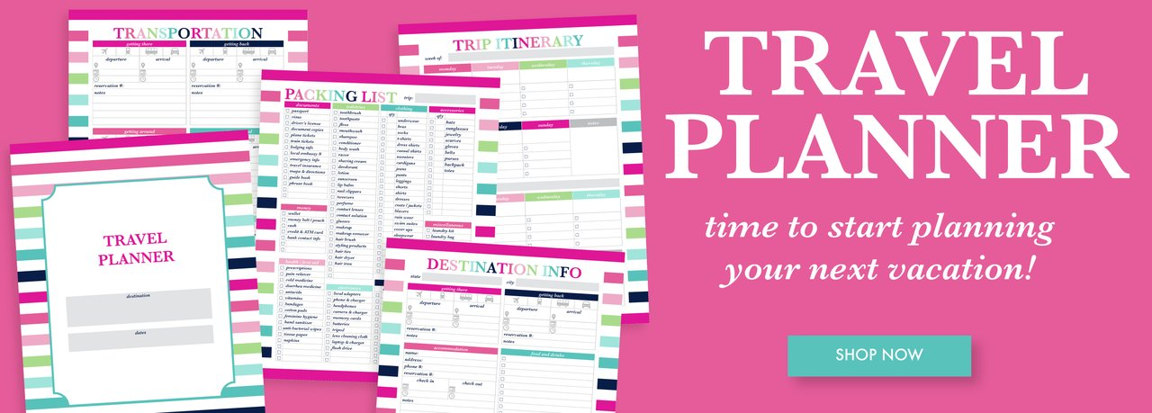 Printable Travel Planner perfect for planning your next vacation
