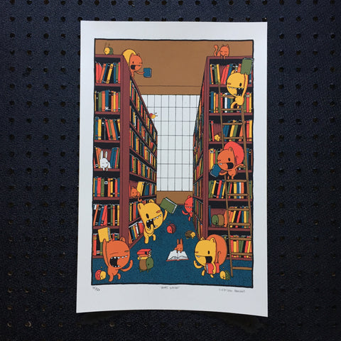 books galore screen print (11x17)