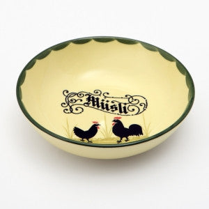 Zeller Cocks & Hens Cereal Bowl with Müsli Inscription 18cm