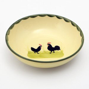 Zeller Cocks & Hens Cereal Bowl 18cm
